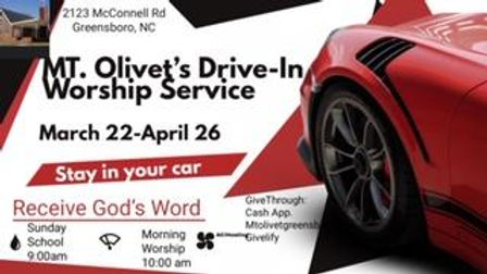 Drive In Worship at Mt. Olivet AME Zion,