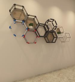 六角形展示架