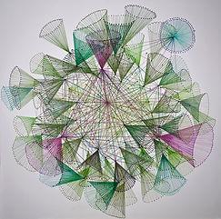 3.Networking-A_100x100cm__pencil_Acrylic