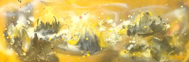 Sun Moon Lake, 2018, Spray on canvas, 32