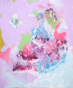 Guan Yin, 2016, Spray on canvas, 120 x 1
