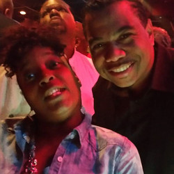 Me and Omar gooding .. My cousin takes horrible picture.