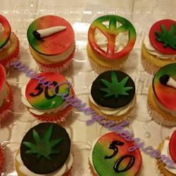Bob Marley cupcakes