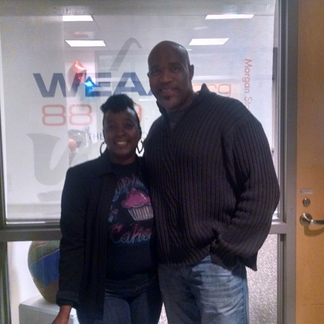 Me at Morgan State Radio.  #cupseycakesy #morganstate #weaa #88