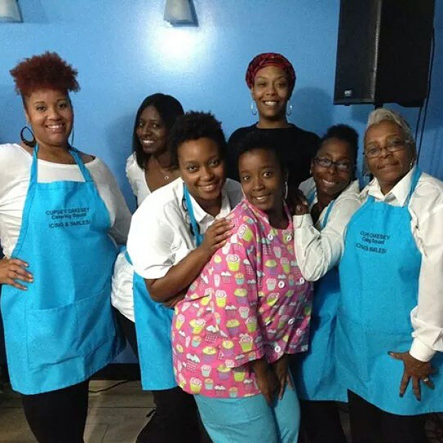 My wonderful team! #cupseycakesy #catering #tracibraxton #enigma #fashion #food #gettingitdone  #ido