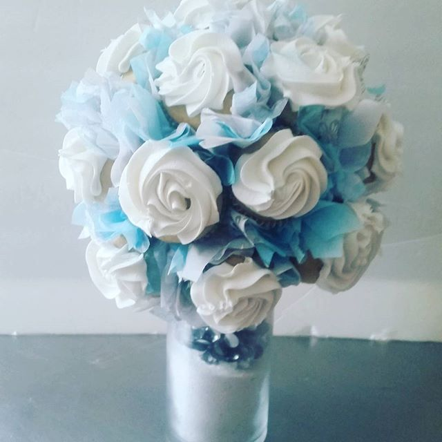 Bouquet. .. Bridal shower centerpiece.