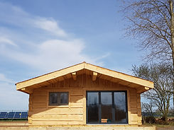 NOOK II Dovetail log cabin mobile home t