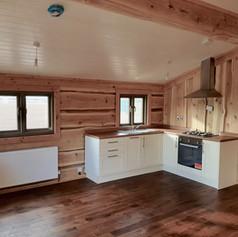 Dovetail Log Cabin White Kitchen Alendal