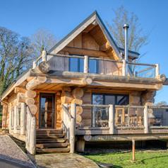 Chalet log home by British Log Cabins UK
