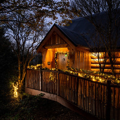 Log Cabin at Swinney Wood natural balust