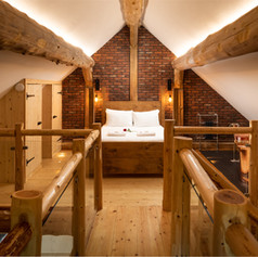 Log cabin brich effect open plan 1st flo