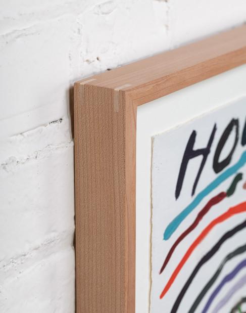 Maple frame detail