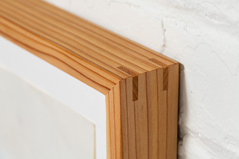 Western red cedar frame detail