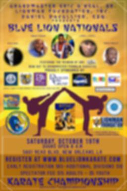 2019 BLN Karate Championship Final Flyer
