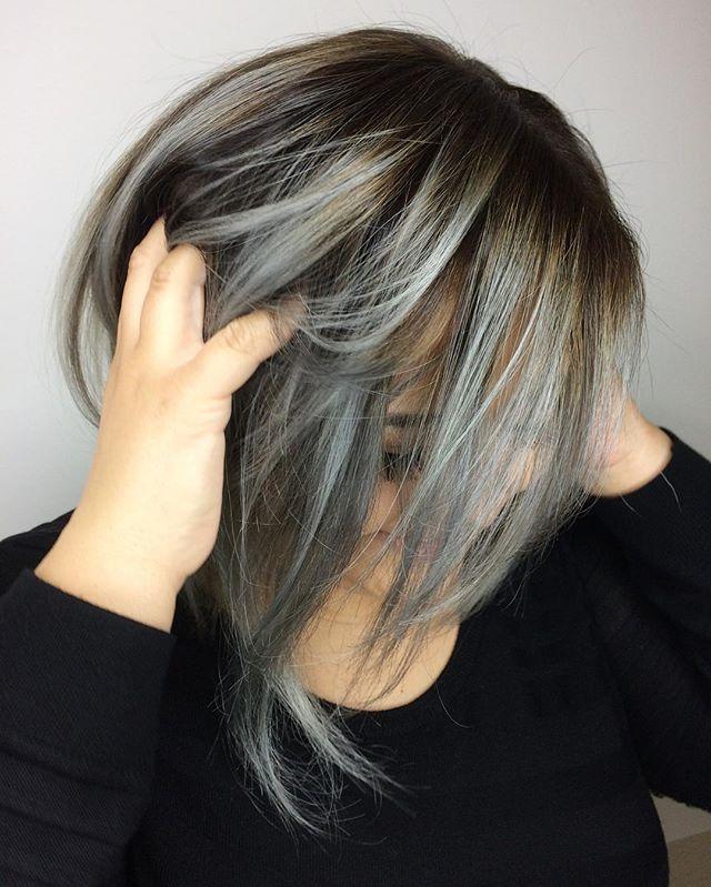 S I L V E R #oribe #luxurybrandpartners #lbp #blonde #babylights #balayage #fallhaircolor #redkinsha