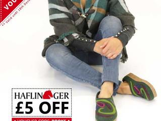 £5 OFF HAFLINGER STYLES