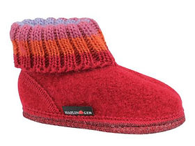 HAFLINGER PAUL RED CHILDREN'S SLIPPERS