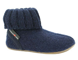 Haflinger-Children's-slippers-Karlo-Navy