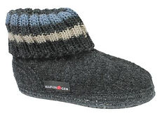 HAFLINGER PAUL GRAPHITE CHILDREN'S SLIPPERS