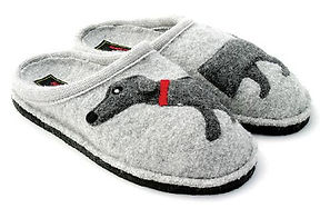 Haflinger Flair Dachs Dosg Slippers Grey