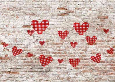 Nummer 13 Steinmauer Herz