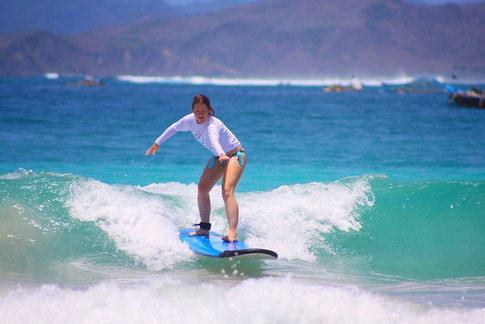 surfing lessons, surf photography Lombok Indonesia