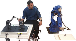 A telerobotic setup