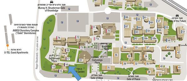 Map of BGU