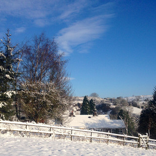 Snowy view across Manifold Valley