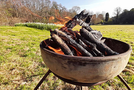 Fire bowls by Joel Tarr artist blacksmith