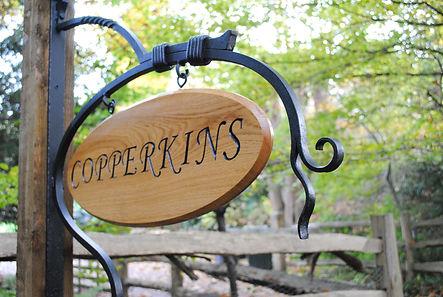 Oval house sign by Joel Tarr artist blacksmith