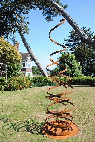 Spiral sculpture Joel Tarr artist blacksmith