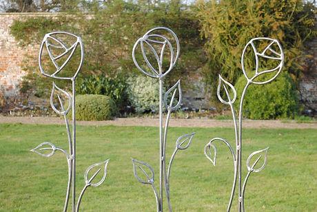 Rose sculpture Joel Tarr artist blacksmith
