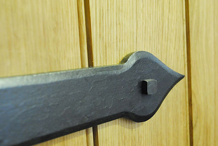 Church oak door hinges Joel Tarr artist blacksmith