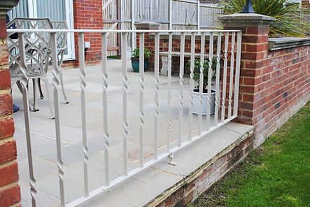 Twisted metal railings by Joel Tarr artist blacksmith