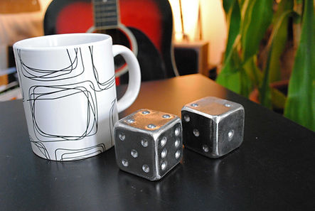Steel dice gifts Joel Tarr artist blacksmith