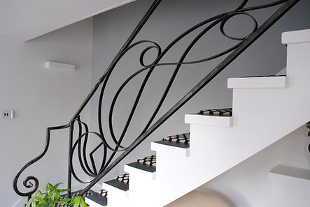 Staircase balustrade railing Joel Tarr artist blacksmith