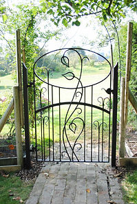 Kitchen garden gates by Joel Tarr artist blacksmith