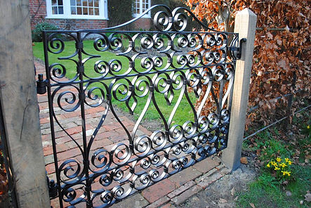 Traditional scroll gates by Joel Tarr artist blacksmith