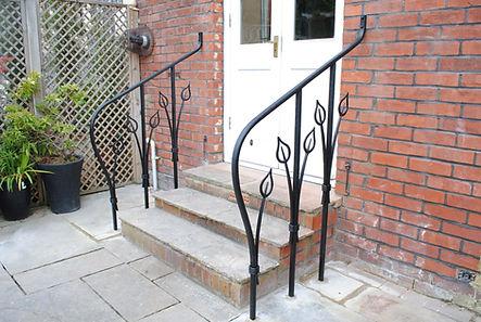 Art Nouveau handrails by Joel Tarr artist blacksmith