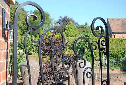 Swirl gate by Joel Tarr artist blacksmith