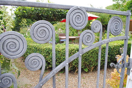 Roll scroll gate by Joel Tarr artist blacksmith