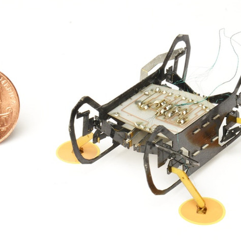 Robots with sticky feet can climb up, down, and all around