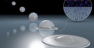 Why water droplets 'bounce off the walls'