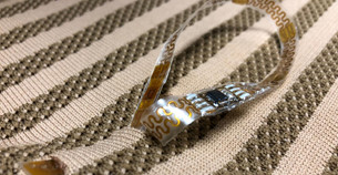 Sensors woven into a shirt can monitor vital signs