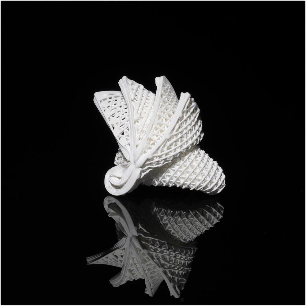 Printed ceramic origami mimicking the Sydney Opera House. @ City University of Hong Kong