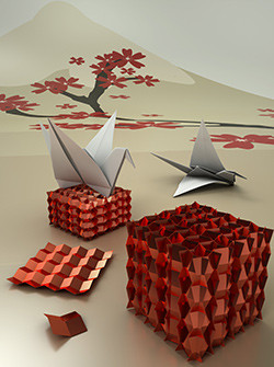 Origami metamaterials show reversible auxeticity combined with deformation recoverability