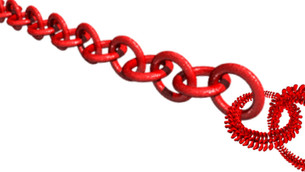 Polymers self-assembling like links of a chain for innovative materials
