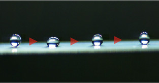 New mechanism moving droplets at record-high speed and long distance without extra power