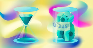Supercomputers and Archimedes' law enable calculating nanobubble diffusion in nuclear fuel